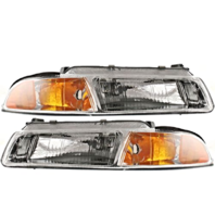 Fits 95-00 Stratus, Breeze, Cirrus L & R Headlamp w/standard beam pattern - pair