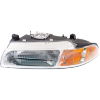 Fits 95-00 Stratus, Breeze, Cirrus Left Driver Headlamp w/standard beam pattern
