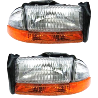 Fits 98-03 Durango Left & Right Composite Headlamp Assm w/park signal lamp-pair