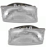 Fits 98-03 Dodge Durango Left & Right Headlamp Units w/bulb (pair)
