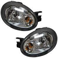 03-05 Dodge Neon Left & Right Headlamp Assembly w/black bezel - Set