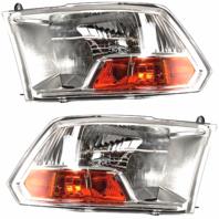 Fits 09-10 Dodge 1500 Pickup 10 2500 3500 Pickup Left & Right Headlamp Assm-Set