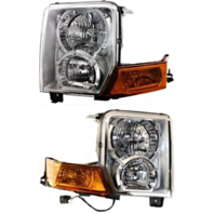 Fits 06-10  Commander Left & Right Halogen Headlamp Assemblies (pair)