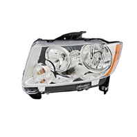 Fits 11-13  Compass Left Driver Halogen Headlamp Assembly w/o leveling