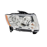 Fits 11-13  Compass Right Passenger Halogen Headlamp Assembly w/o leveling