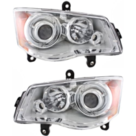 Fits 08-16 Town & Country Left & Right HID Headlamp (no HID kit; no  Beam)