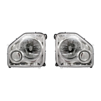 Fits 08-12  Liberty Left &Right Headlamp Assm W/Chrome Bezel No Fog Lamp-Set