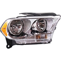 Fits 11-13  Durango Right Passenger Halogen Headlamp Assem w/Chrome Bezel
