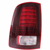 FITS 13-17 RAM PICKUP LEFT DRIVER TAIL LAMP ASSEMBLY LED TYPE without Chrome