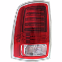 FITS 13-17 RAM PICKUP LEFT DRIVER TAIL LAMP ASSEMBLY LED TYPE W/CHROME TRIM