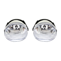 Fits 02-04 Jeep Liberty Left & Right Fog Lamp Assemblies (pair)