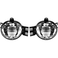 Fits 02-08 Ram 1500 / 03-09 2500 / 03-10 3500 Pickup Left & Right Fog Lamp Set