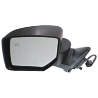Fits 07-14  Patriot Left Driver Mirror Power Textured Black With Heat