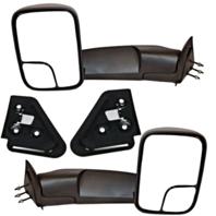 Fits 94-01 RAM Pickup 1500 94-02 2500/3500 Set Tow Manual Mirrors Flip Up