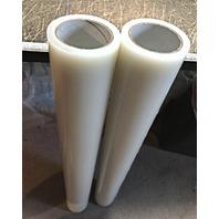 "Clear Collision Wrap 2 Rolls 36"" X 100' 4mil Durable See-thru Plastic Film Self-adhering W/ UV Inhibitor."