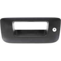 Fits 07-13 Silverado, Sierra Rear Tailgate Bezel w/keyhole textured Black