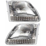 Fits 97-03  F150 (except Harley & Lightning ed.) Left & Right Headlamp -Set