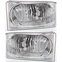 For 99-04 Superduty Left & Right Headlamp Assm w/Clear Center Lens 2 Options