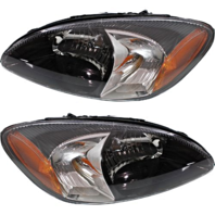 Fits 00-07  Taurus Left & Right Headlamp Assemblies With Black Bezel