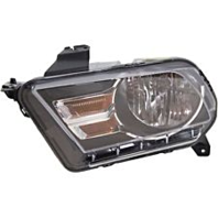 Fits 10-14  Mustang Left & Right Halogen Headlamp Assembly With Chrome Trim