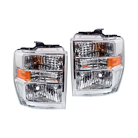 Fits 08-19  E Series Van Left & Right Composite Headlamp Aero Style -Set