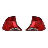 Fits 03-04  FOCUS Sedan Tail Lamp / Light Right & Left Set w/ Black Housing