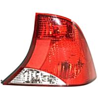 Fits 03-04  FOCUS Sedan Tail Lamp / Light Right Passenger with Black Housing