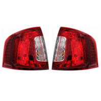 Fits 11-14 Ford Edge Left & Right Set Tail Lamp Assemblies with Smoked Red Lens