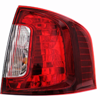 Fits 11-14 Ford Edge Right Passenger Tail Lamp Assembly with Smoked Red Lens