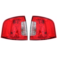 Fits 11-14 Ford Edge Left & Right Set Tail Lamp Assemblies without Smoked Red Lens
