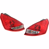 Fits 11-13 Ford Fiesta Hatchback Left & Right Set Tail Lamp Assemblies