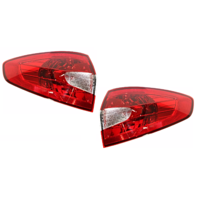 Fits 11-13 Ford Fiesta Sedan Left & Right Set Tail Lamp Assemblies Quarter Mounted