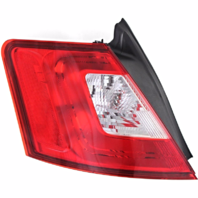 Fits 10-12 Ford Taurus Left Driver Tail Lamp with Red Trim Quarter Mounted