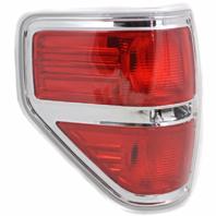 Fits 09-14  F150 Tail Lamp / Light Left Driver W/ Chrome Trim
