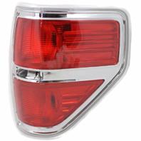 Fits 09-14  F150 Tail Lamp / Light Right Passenger W/ Chrome Trim