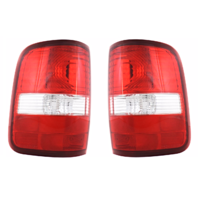 Fits 04-08 FD F150 Styleside Tail Lamp / Light Right & Left Set W/ Clear Lens