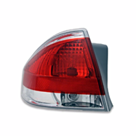 Fits 08-11  FOCUS Tail Lamp / Light Left Driver With Chrome Trim