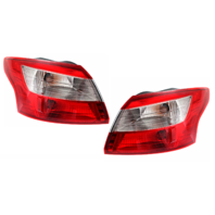 Fits 12-14 Ford Focus Sedan Left & Right Set Tail Lamp Assemblies Quarter Mounted