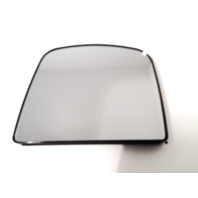 Fits 08-15 Express Savana Left Driver Heated Upper  Mirror Glass w/ Rear Holder For models w/ 2 Piece Mirror