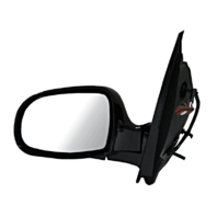 Fits 03  Windstar Left Driver Mirror Power Black Manual Folding Non Painted