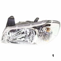 Fits 00-01  MAXIMA LEFT DRIVER HEADLAMP ASSEMBLY With CHROME BEZEL