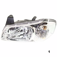 Fits 00-01  MAXIMA LEFT & RIGHT SET HEADLAMP ASSEMBLIES With CHROME BEZEL