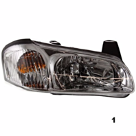 Fits 00-01  MAXIMA RIGHT PASSENGER HEADLAMP ASSEMBLY With CHROME BEZEL