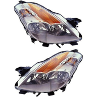 Fits 08-09 NISSAN ALTIMA COUPE LEFT & RIGHT SET HALOGEN HEADLAMP ASSEMBLIES