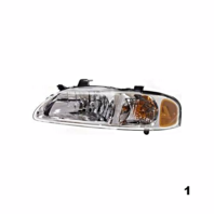 Fits 00-01  SENTRA LEFT DRIVER HEADLAMP ASSEMBLY
