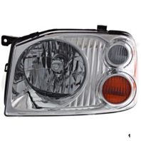 FITS 01-04 NISSAN FRONTIER LEFT DRIVER HEADLAMP ASSEMBLY With/CHROME BEZEL