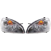 Fits 02-04 NISSAN ALTIMA LEFT & RIGHT SET HALOGEN HEADLAMP ASSEMBLIES