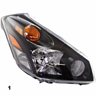 Fits 04-09  QUEST RIGHT PASENGER HEADLAMP ASSEMBLY