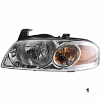 Fits 04-06  SENTRA LEFT DRIVER HEADLAMP ASSEMBLY With/CHROME HOUSING