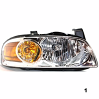 Fits 04-06  SENTRA RIGHT PASSENGER HEADLAMP ASSEMBLY With/CHROME HOUSING